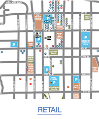 Map of Shops and Galleries in Downtown Winston-Salem