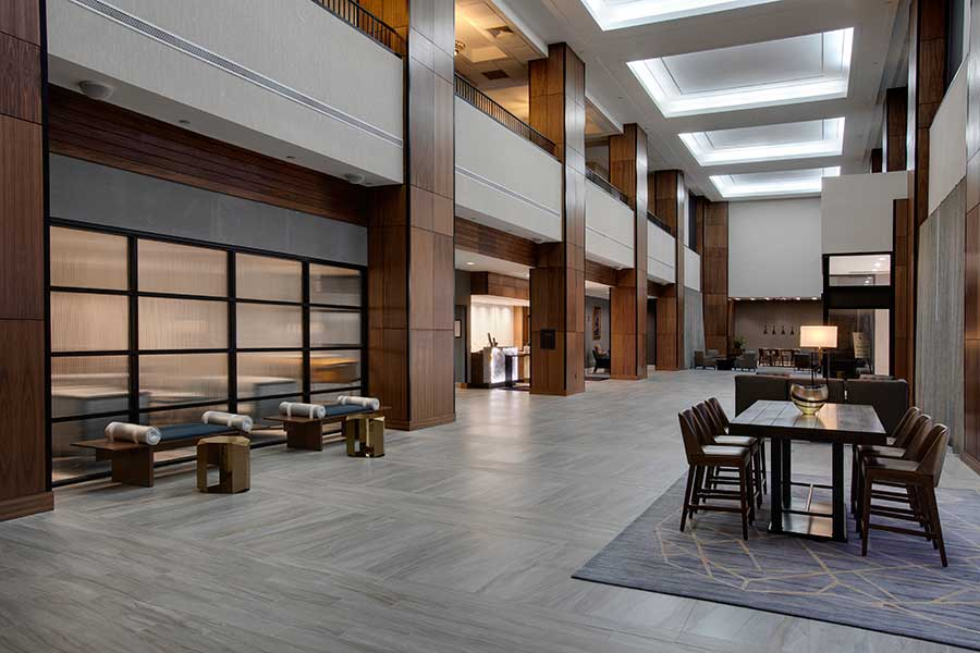 Marriott Winston-Salem Newly Renovated Lobby